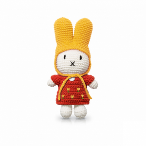 miffy handmade & her red tulip dress + yellow hat