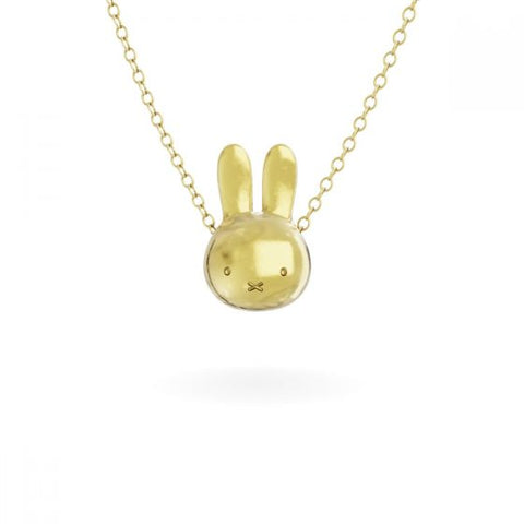 MIFFY - 18CT GOLD VERMEIL LARGE HEAD NECKLACE