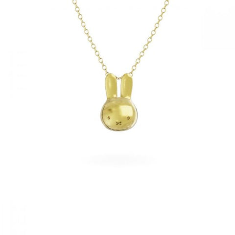 預購(九月底到貨) MIFFY - 18CT GOLD VERMEIL MINI HEAD NECKLACE