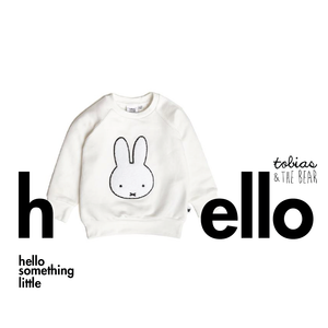miffy badge loopback sweatshirt