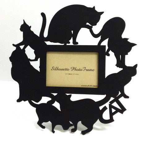 Cat Silhouette Photo Frame