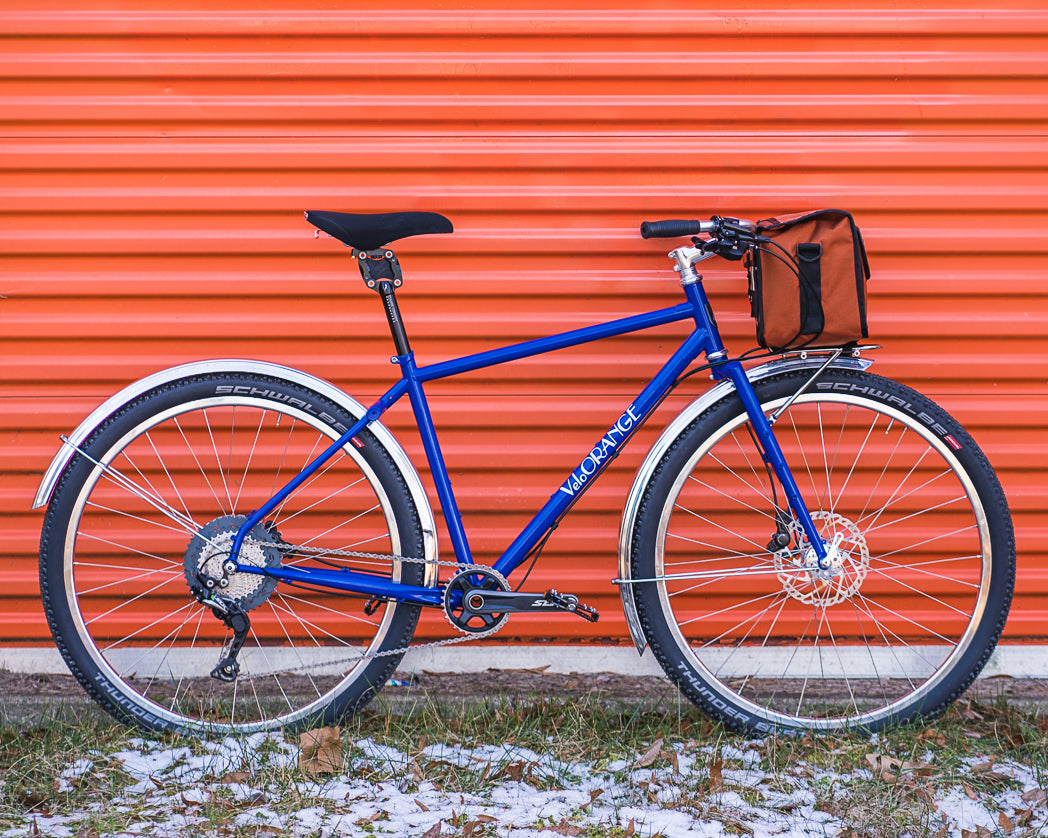 Velo Orange Piolet with Granola Bars and Rando Rack