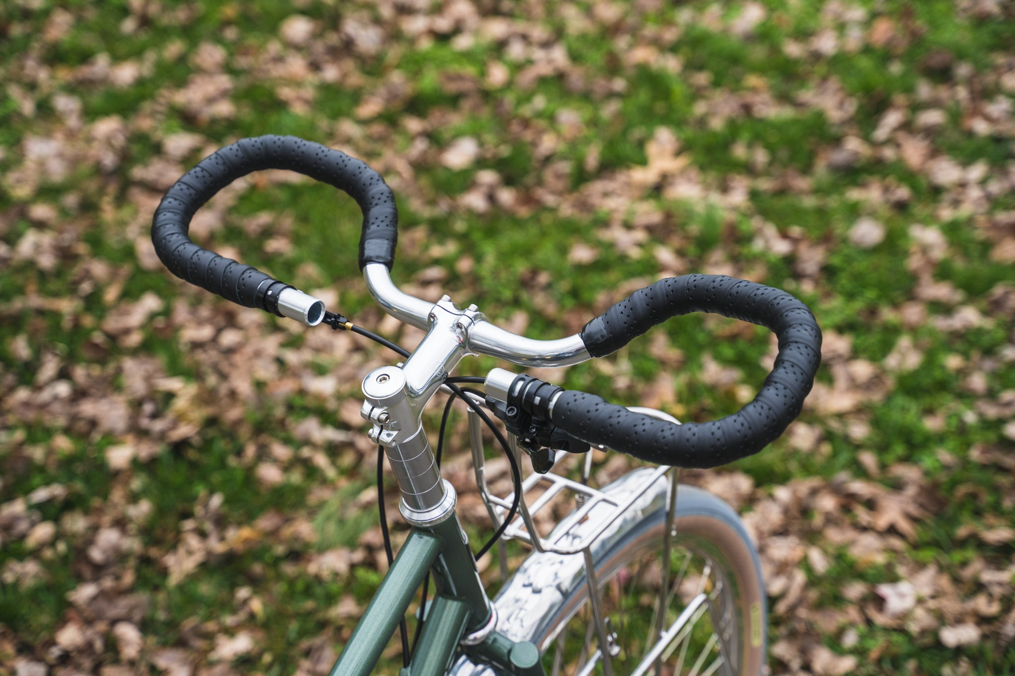 Dajia Cycleworks Trekking Bars with Leather bar tape
