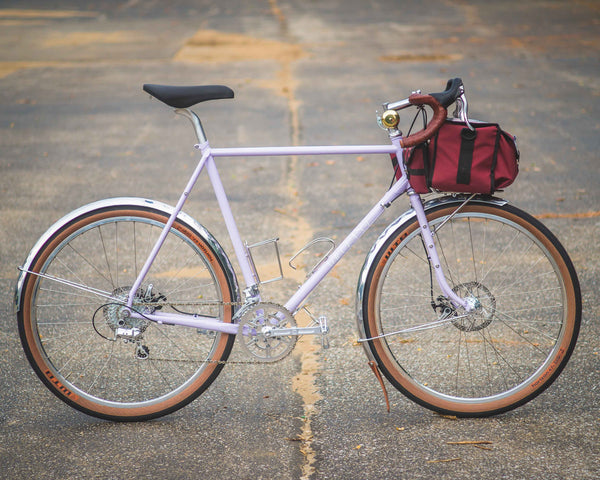 Velo Orange Polyvalent Lilac - Fenders on Disc Brake Bikes