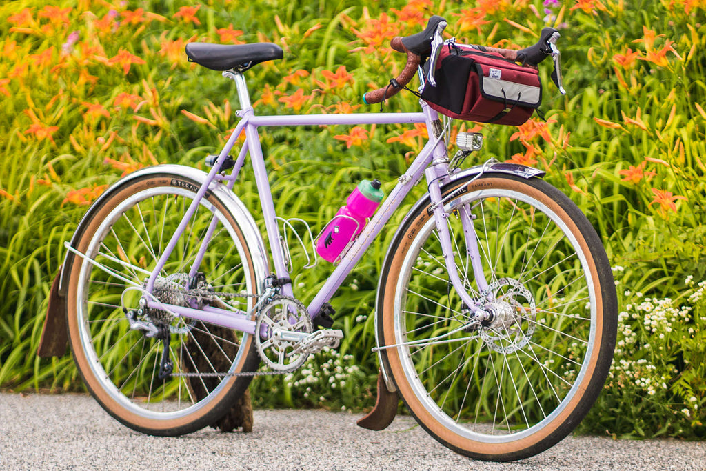 Velo Orange Polyvalent in Lilac 650b with 105 Teravail Tires