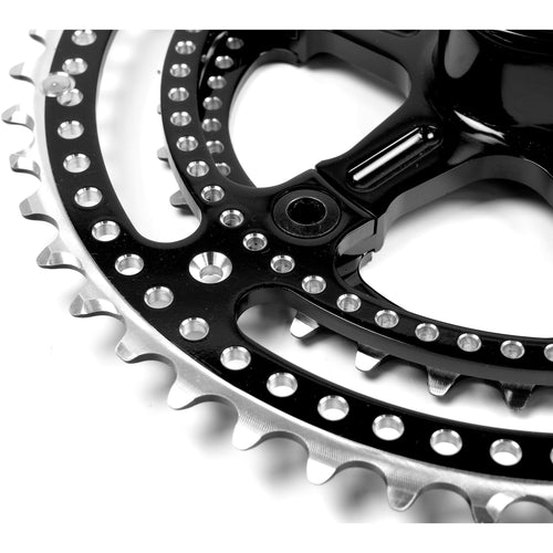 Grand Cru Noir Drillium 110 Fluted Double Crankset, 34x48t