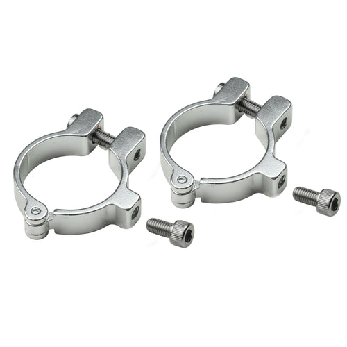 Hinged bottle cage clamps, silver