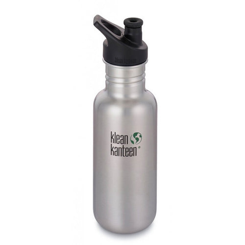 Klean Kanteen Stainless Steel Water Bottles with Sport Tops
