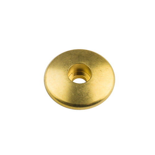 Brass Stem Cap for Threadless Steerers - Velo Orange, Blue Lug