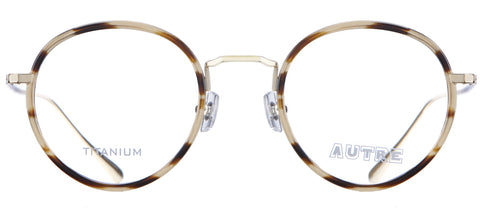 Tortoise thin plastic round glasses with gold rims