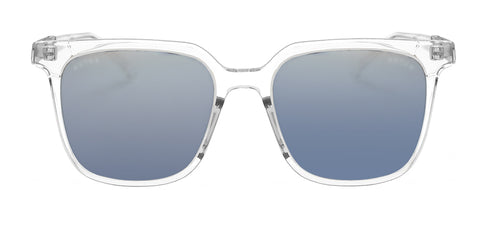 Square-shaped clear asian fit sunglasses sold by Kaioptics