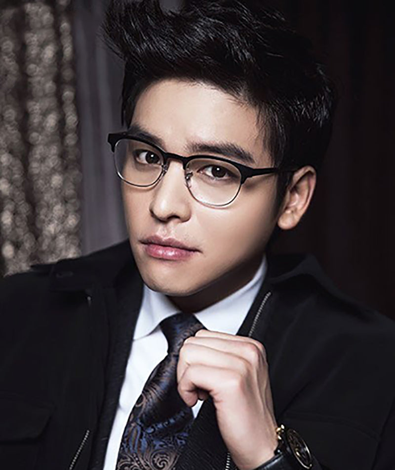 Lee Jang Woo wears black browline eyeglasses
