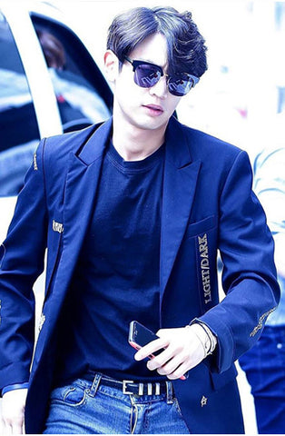 Minho from Shinee wears Asian Fit sunglasses sold online by Kaioptics