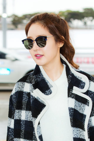Sung Yuri wears Asian Fit sunglasses sold online by Kaioptics