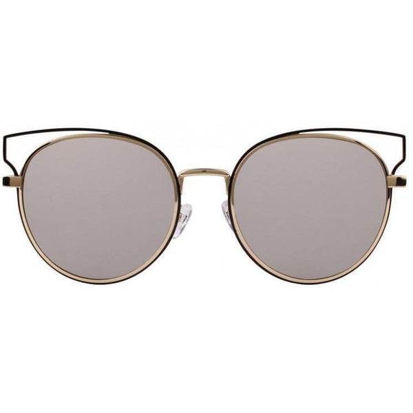 Round sunglasses with cut out modern design on brow line view 1