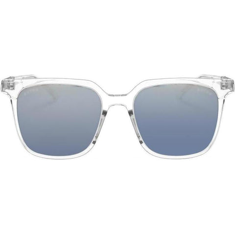 Clear and transparent square sunglasses view 1