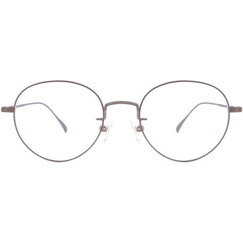 Thin silver circle frame glasses view 1