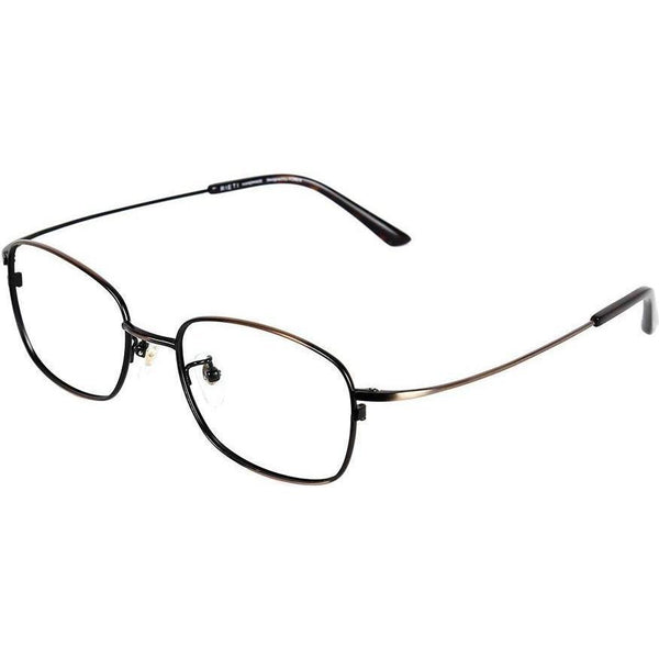 Metallic brown metal square eyeglasses view 2