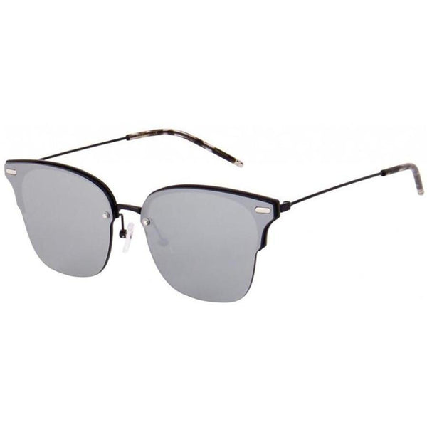 Monochrome squarish sunglasses with light gray lenses view 2