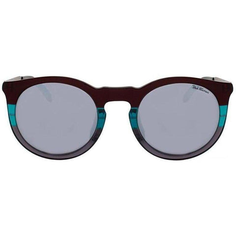 Three toned plastic round sunglasses view 1