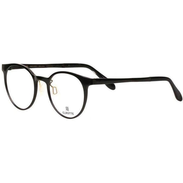 Lightweight simple black round eyeglasses view 2