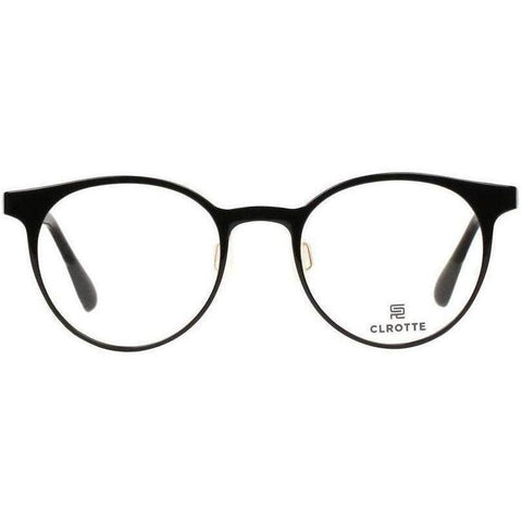 Lightweight simple black round eyeglasses view 1