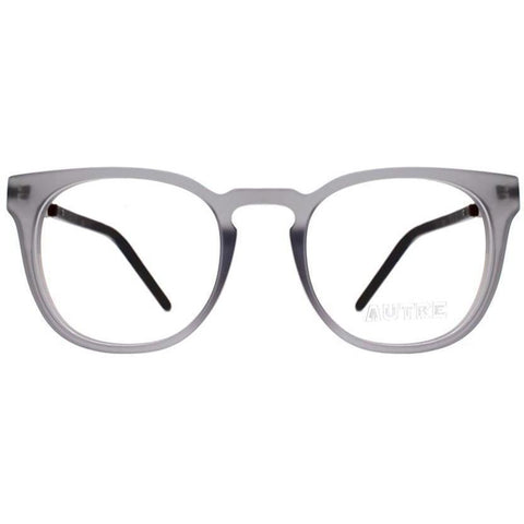 Big gray translucent  squarish eyeglasses view 1