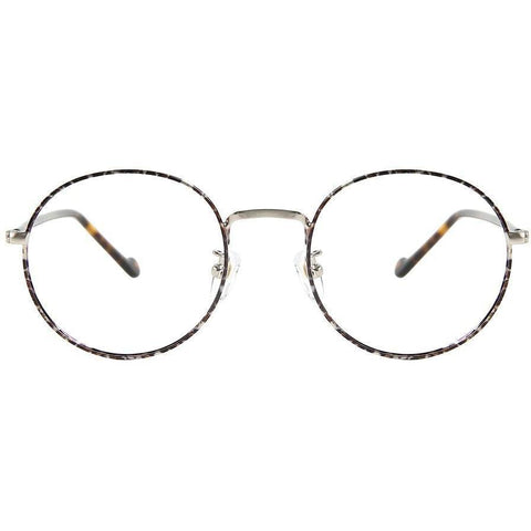 Large thin tortoise framed glasses view 1