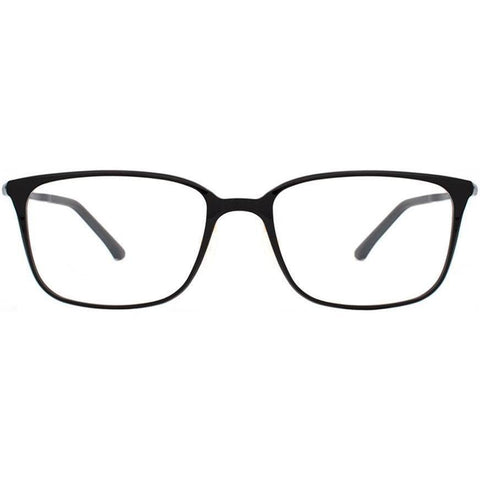 Black light weight rectangular eyeglasses view 1