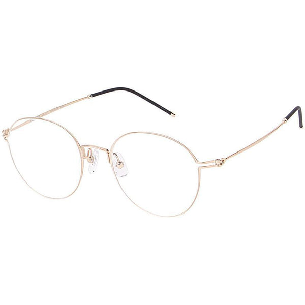Thin framed gold round glasses view 2
