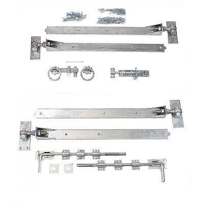 "Gate Hinge Set - Adjustable Galv 36"" Hook & Band"
