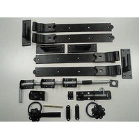 "36"" Double Door Hinge Kit - Galv / Black"