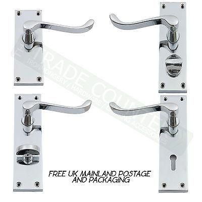 Door Handle - Lock Latch Privacy Bathroom Set