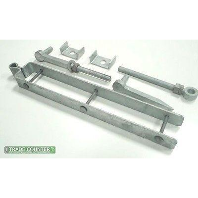 Gate Hinges - Adjustable Field Gate Hinge Set in Galv