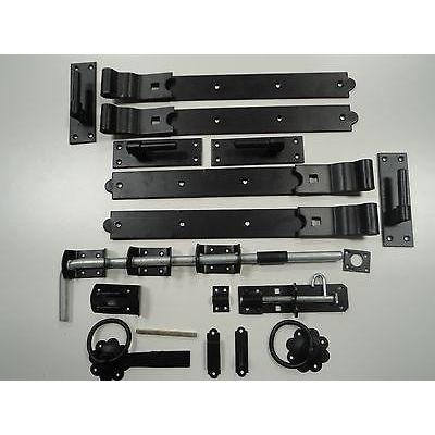 "Gate Kit - Double 24"" Hinges - Galv / Black 