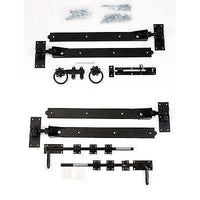 "Gate Hinge Set - Adjustable Black 24"" Hook & Band"