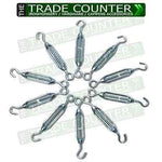 10 Turnbuckles - Galv 6mm - Wire Tensioner | TTCWM