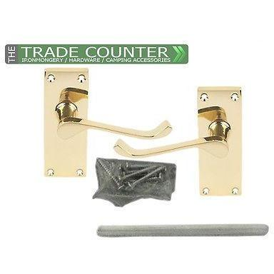 Interior Door Handles - Scroll - Brass & Chrome | TTCWM