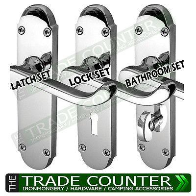 Internal Door Handles - Lock Latch Bathroom Sets