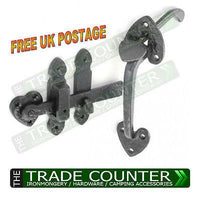 "Thumb Suffolk Latch - Black Cast Iron - 8"" 200mm"