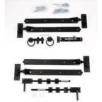 "Gate Hinge Set - Adjustable Black 18"" Hook & Band"