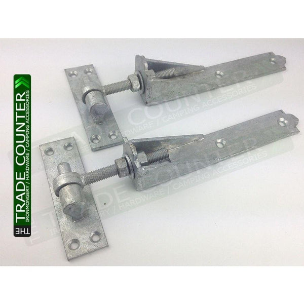 "Gate Hinges - Adjustable - Pair 10"" or 12"" 