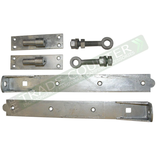 Gate Hinges - Adjustable Hinges - Galv or Black