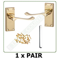 Interior Door Handles - Lever Latch - Brass