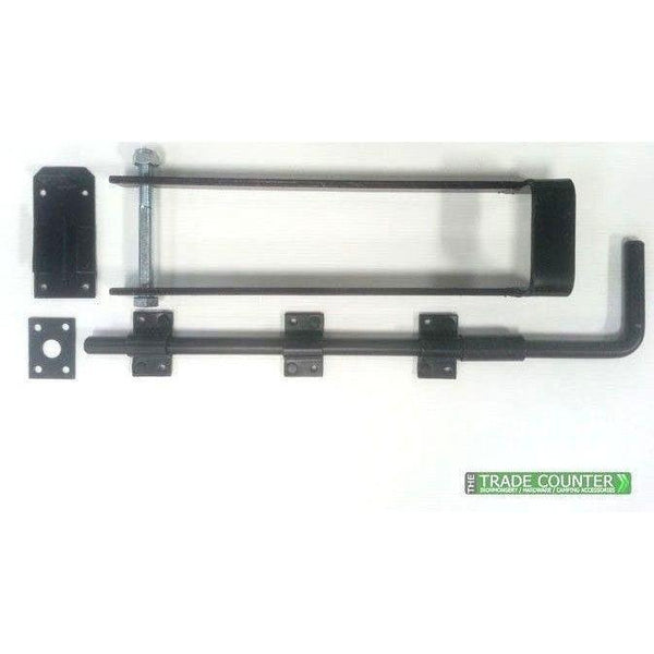 "Gate Lock - 14"" Throw Over Loop & 18"" Drop Bolt 
