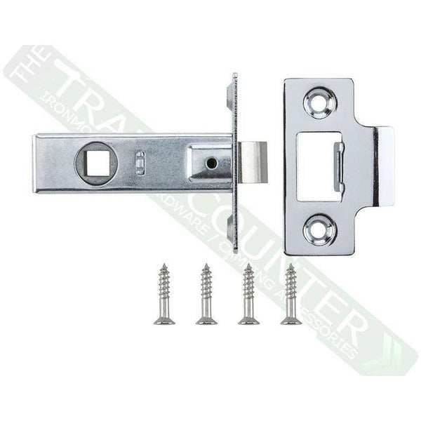 "Tubular Mortice Latch - 65mm (2.5"") - Chrome Effect"