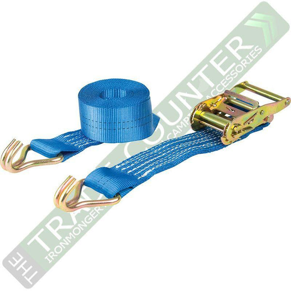 6 x Pair Ratchet Straps - 3m x 50mm 2000kg - Warrior