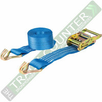 Ratchet Straps x 6 Heavy Duty Size 7m x 50mm 2000kg WARRIOR BDV1574CP BDSL