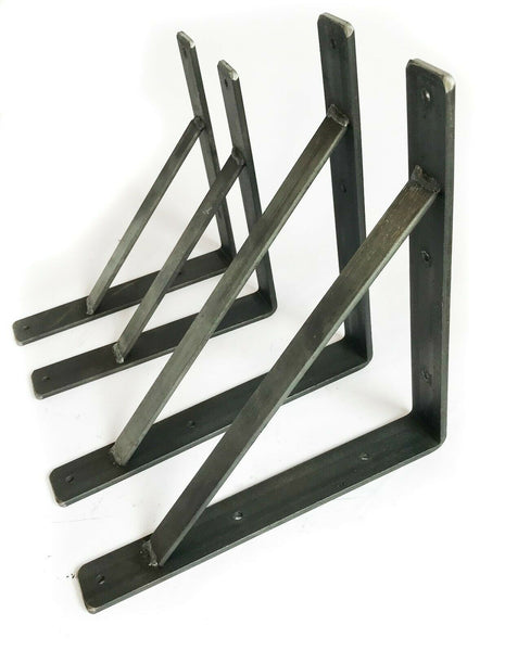 Heavy Duty Scaffold Board Shelf Brackets Rustic Handmade Industrial Modern