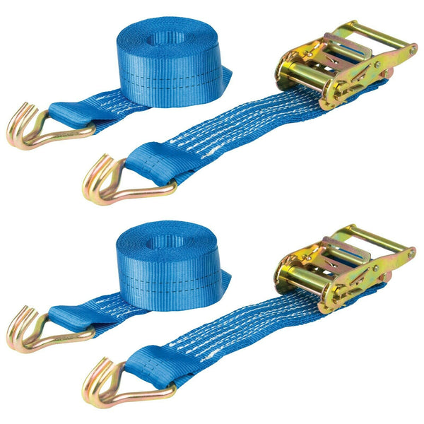 Ratchet Straps 7m x 50mm Pair of Heavy Duty Tie Down 2000kg Warrior BDV1574CP
